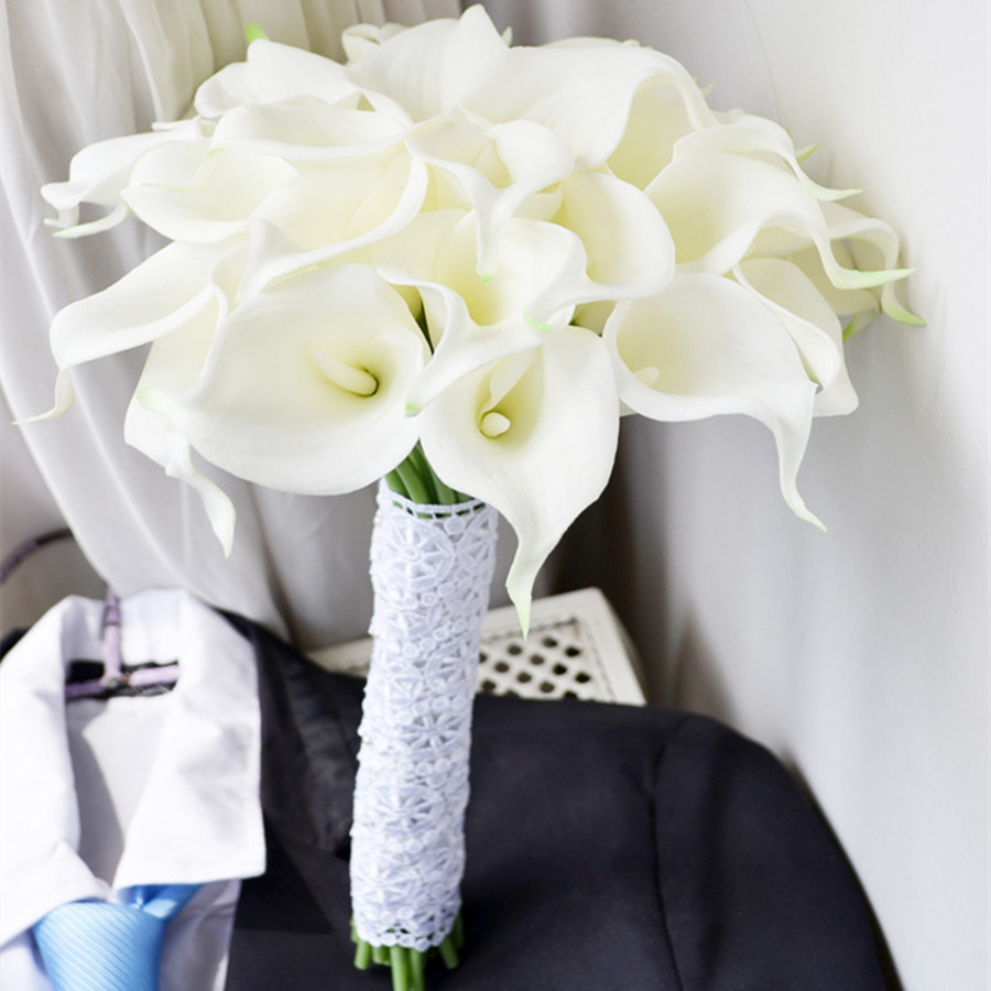 Artificial Nursery 30pcs Bouquet Flower Artificial Calla Lily Flower